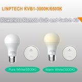 Eco Self-Power libres de gama alta de la batería Wirefree bombilla LED con control remoto el interruptor de luz