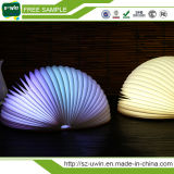 Lampada creativa piegante dell'indicatore luminoso del libro dell'indicatore luminoso LED di notte del LED