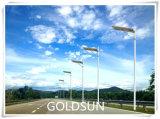 Tudo em uma luz de rua solar do diodo emissor de luz, lâmpada da estrada, fabricante claro do jardim