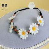 Girasol Corona diadema cinta blanca (Cabeza-355)