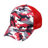 Chapéu azul impresso venda por atacado do camionista do espaço em branco da planície do chapéu do engranzamento de Camo