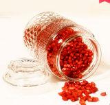 Nórdico Carved Food Glass Jar Candy Glass Jar Frasco De Vidro Com Tampa Selada