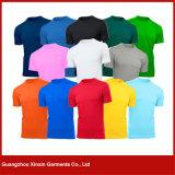 カスタム設計しなさい人の綿のブランクの白いTシャツ(R97)を