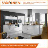 Lack-Küche-Schrank-Möbel der linearen Art-2018 weiße einfach zu säubern