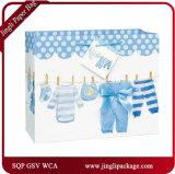 2018 Bolsas de papel de regalo azul del bebé bolsas de la compra de las bolsas del bebé