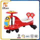 Passeio no carro vermelho plástico do balanço do bebê do carro para miúdos