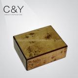 Rectángulo de empaquetado del alto del lustre perfume de madera del Burl