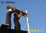 Angeschaltene LED-Solarstraßenlaterne mit Controller des PIR Fühler-MPPT