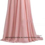 Brautjunfer-Kleider für Hochzeits-Chiffon- Größen-hohes niedriges Partei-Kleid