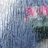 La pioggia ha modellato/portello /Art dell'acquazzone decorativo/vetro di finestra