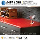 Brame artificielle de pierre de quartz de couleur rouge, jaune, verte, bleue