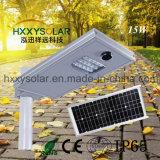 Todo en uno de 15W Integrated solar Calle luz LED para jardín patio