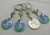 Münze Keychains, fantastische Fertigstellung, kundenspezifische Art erhältlich, geeignet für fördernde Geschenke