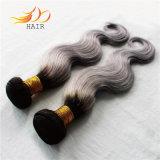 Capelli Burmese di Remy di estensione dei capelli di colore di tono due per la donna
