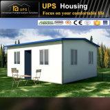 Residencial permanente de la Casa Villa de prefabricados de acero de resistencia al viento con las ventanas y puertas
