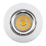 정지하십시오 주조 알루미늄 GU10 MR16 공단 니켈 둥근 조정 중단한 LED 램프 (LT1000)를