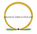 Fibra monomodale di telecomunicazione Patchcord ottico di simplex 3m di qualità Sc/APC