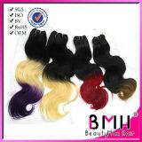 유럽 Remy Hair Weft의 Ombre Hair Tow Tone Color