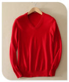 2017 Knittwear van mensen 100% Breiende Sweater van het Kasjmier van de Hals van de Trui lang-Sleeved V van de Sweater van het Kasjmier Zuivere