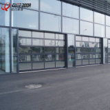 高品質の霜ガラスが付いているアルミニウム自動部門別のガレージのドア