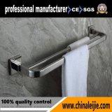 Barre di tovagliolo uniche del doppio dell'acciaio inossidabile di rivestimento del raso di stile della stanza da bagno