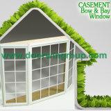 Ventana del marco de madera sólida y ventana del sótano para el chalet de California, la bahía y la ventana de la parrilla del arqueamiento para el comedor