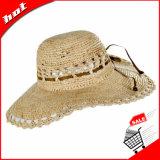 Chapéu de Sun do chapéu de Folppy com teste padrão de flor