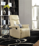 Sofa de cuir véritable de salle de séjour (C408)