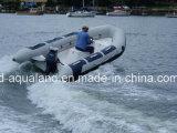Aqualand 14feet 4.2m Rib Motor BoatかRigid Inflatable Rescue Boat (rib420A)