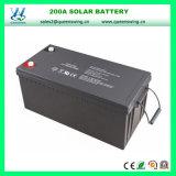 고품질 12V 200ah 재충전용 저장 태양 에너지 건전지 (QW-BV200A)