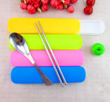 Edelstahl-Gabel und Löffel mit Plastikgeschenk-Set