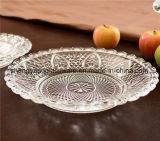 De transparante die Plaat van het Glas in Resturant/Huis/Hotel voor het Vaatwerk /Tableware wordt gebruikt van het Glas