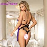Haute qualité de la Dentelle lingerie sexy nuisette violet