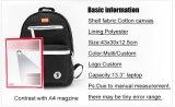 Пользовательский цвет Дрсуга Schoolbag Satchel Canvas рюкзаки для подростков