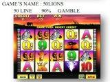 A máquina de jogo a fichas da máquina de jogo da máquina de jogo do entalhe do Linha-Jogo 50 Lions-50