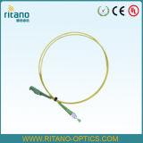 Pigtail da fita da fibra da palavra simples 2.0mm FC da manutenção programada da fábrica de OEM/ODM para a solução do campo de FTTH na mais baixa perda em Il<0.15dB