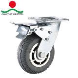 高品質のブレーキ炎の足車が付いている頑丈な灰色PUの足車