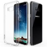 para o cristal da tampa da caixa da galáxia S8 de Samsung - tampa protetora do silicone macio de borracha flexível magro resistente desobstruído do gel do risco TPU do caso para a galáxia S8
