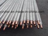 Tube d'ailette composé double en métal d'en cuivre et en aluminium