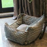 Haustier-Sofa-Kissen-Hundebett-Sofa, das Haustier-Hundebett-Luxuxhaustier-Hundebetten anfüllt