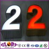 Signe acrylique de la lettre DEL de la Manche de signe de système de DEL pour l'étalage extérieur