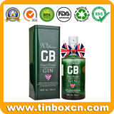портативная квадратная коробка олова вина водочки металла 5cl/50ml для подарков
