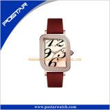 Moderne berühmte Marken-eindeutige Vorwahlknopf-Kristallglas-Frauen-Uhr