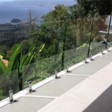 강철 마개 실내 층계 난간을%s 유리제 방책 디자인