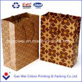 브라운 주문 Kraft 종이 봉지, 갈색 포장지 부대, 호화스러운 서류상 쇼핑 백