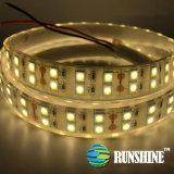 Il tubo IP65 del silicone di 120 LEDs/M impermeabilizza il doppio indicatore luminoso flessibile della striscia 5050 di riga LED