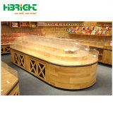 Supermercado de madera soporte de la pantalla de frutas y vegetales