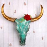 Crânio animal da cabeça da vaca do Figurine da antiguidade do produto 2017 novo para a venda