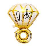 Ik doe de Ballon van het Aluminium van de Ring van de Diamant voor de Decoratie van het Huwelijk van de Partij