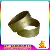 Fascia di gomma su ordinazione promozionale del silicone di alta qualità, braccialetti del silicone